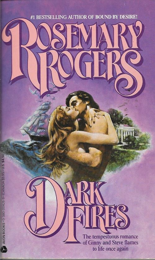 cover of Dark Fires by Rosemary Rogers