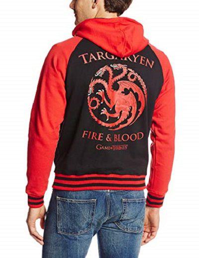 Game of Thrones Targaryen Zip Front Hoodie