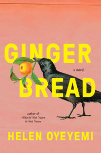 Gingerbread book cover - crow holding orange branch