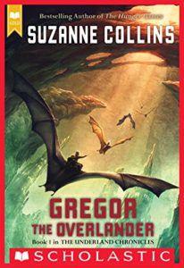 Gregor the Overlander book cover - fantasy books for 6th graders