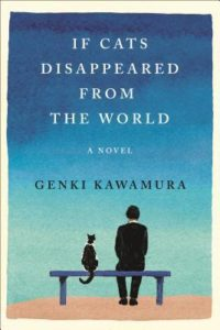 If Cats Disappeared from the World book cover - blue with profile of man and cat