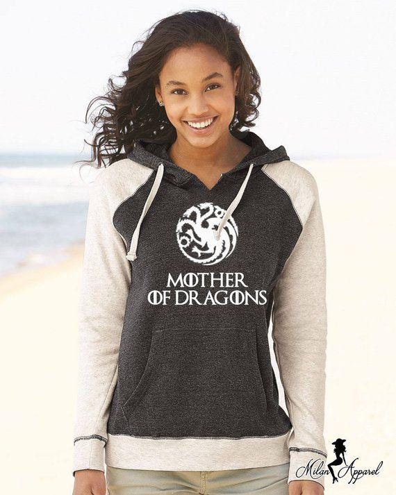 Mother of Dragons Soft Raglan Hoodie