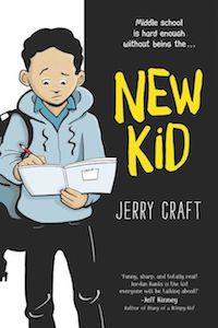 New Kid by Jerry Craft book cover - books for 6th graders