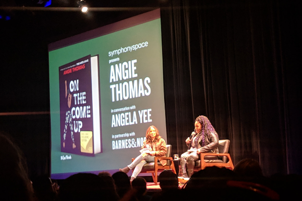 Angie Thomas talks about On the Come Up at Symphony Space