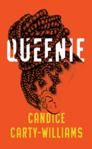 Queenie cover - orange with profile of head with braids