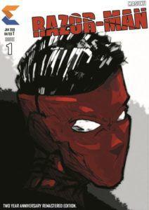 Razor Man Comic Book Cover