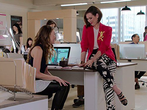 image of Sutton Foster as Liza and Miriam Shor as her boss, Diana, in Younger