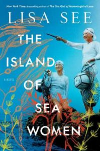 The Island of Sea Women cover - blue background with two women divers