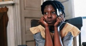 Whoopi Goldberg as Celie in The Color Purple feature