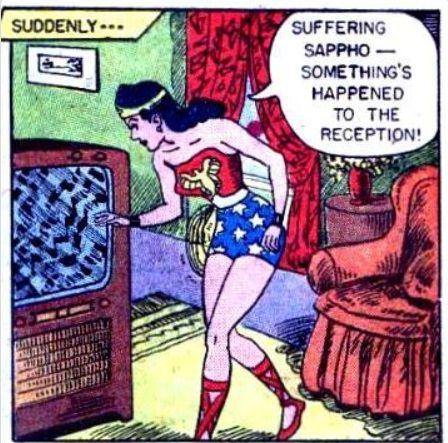 Wonder Woman Suffering Sappho