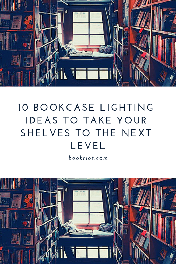 Want to make your bookcases even more special? Here are 10 bookcase lighting ideas to make your shelves next level. book cases | book nook ideas | bookshelf lighting ideas | bookcase lighting ideas | bookcase design
