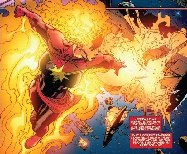 Captain Marvel in binary mode
