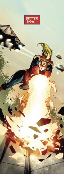 Captain Marvel energy blast powers