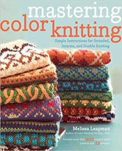 color knitting book cover