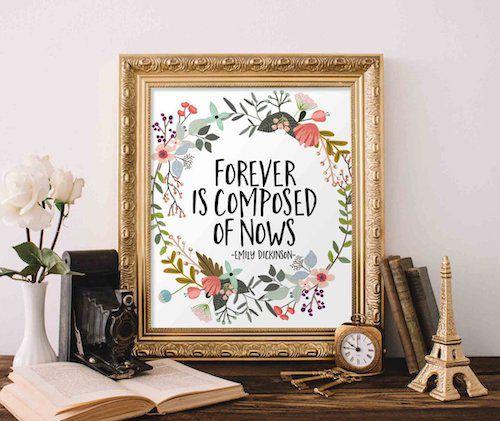 Emily Dickinson quote print