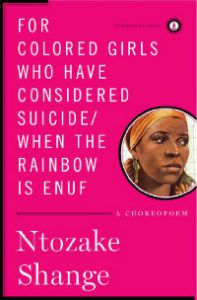 for colored girls ntozake shange book cover