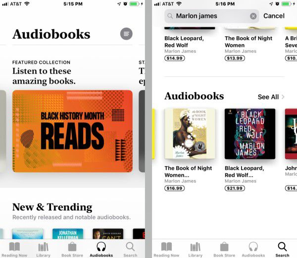 Screenshot demonstrating how to listen to audiobooks on iphone using Apple Books & iTunes
