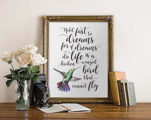 Langston Hughes quote print