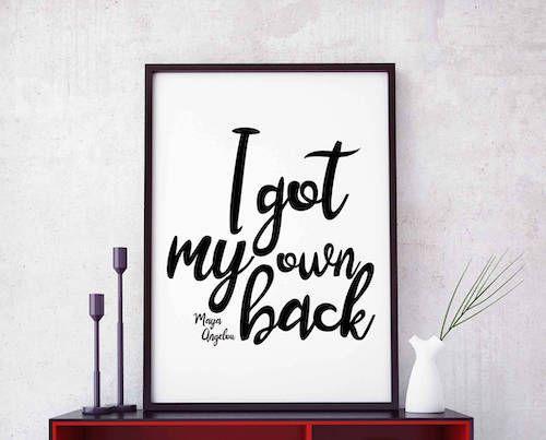 Maya Angelou print quote