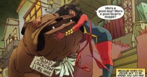 pets in comics feature Lockjaw the Dog