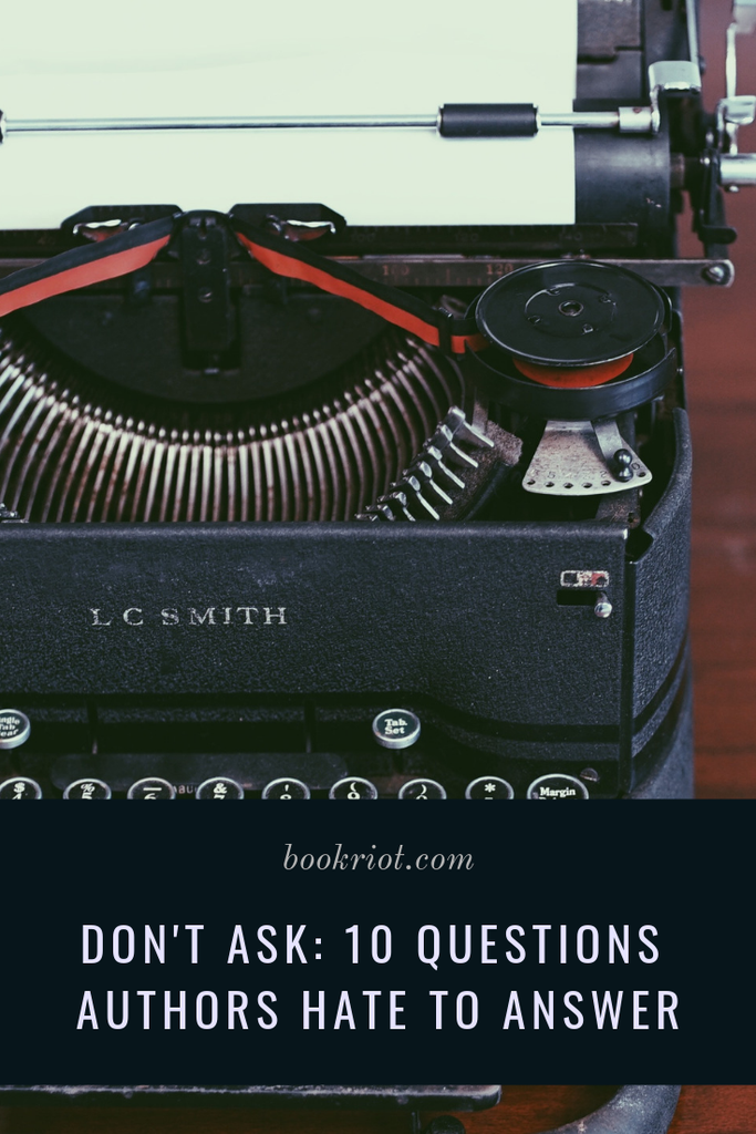 Next time you hit up an author event, here are 10 questions not to ask the author. author events | questions for author events | author event etiquette