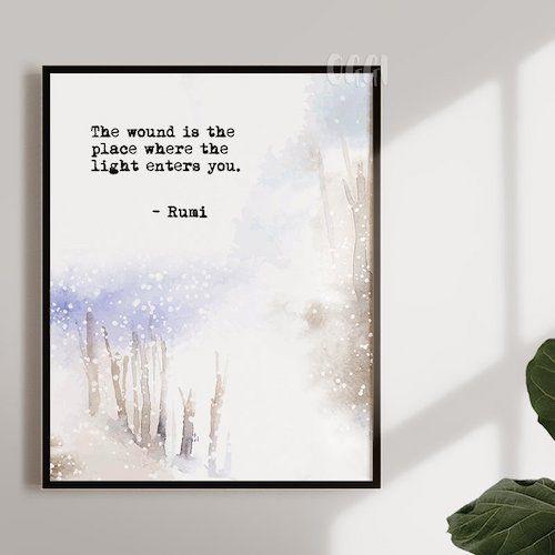 Rumi print