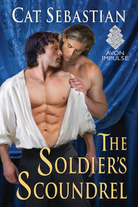 cover of the soldier's scoundrel by cat sebastian