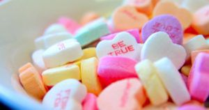 valentines galentines candy hearts feature