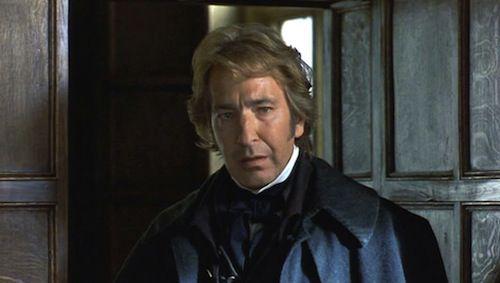Alan Rickman as Colonel Brandon in the 1995 movie Sense and Sensibility
