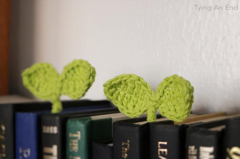 Crochet Budding Leaf Bookmark Tying An End