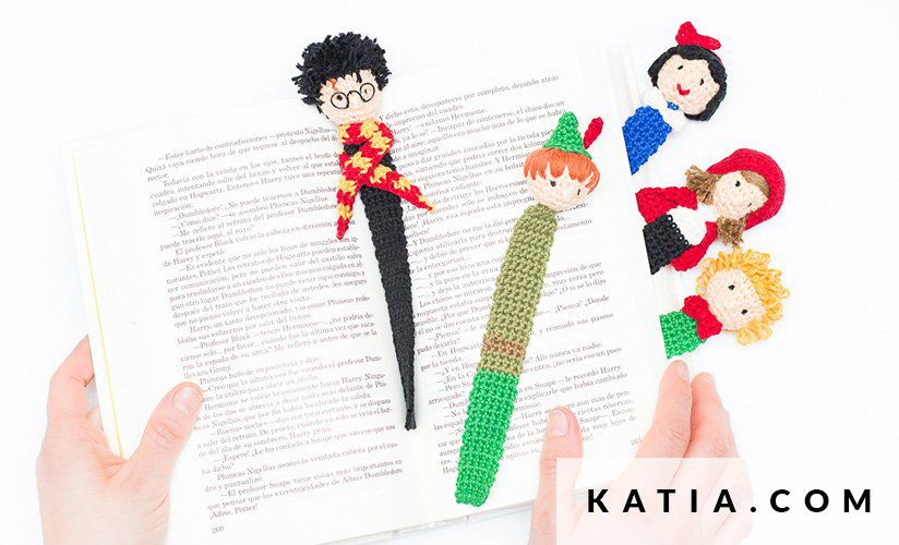 Crochet Characters Bookmarks From Katia