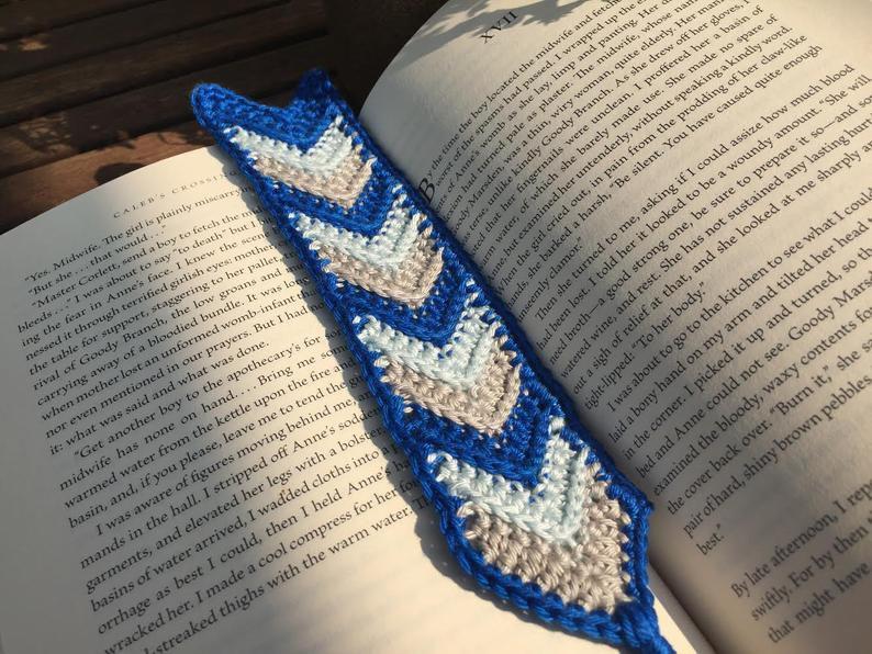 Crochet Chevron Bookmark From Rich Texture Crochet