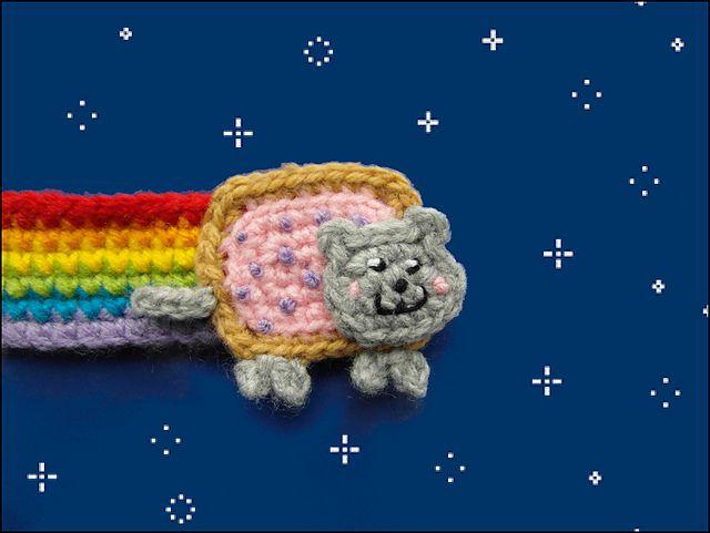 Crochet Nyan Cat Bookmark from Justyna Kacprzak