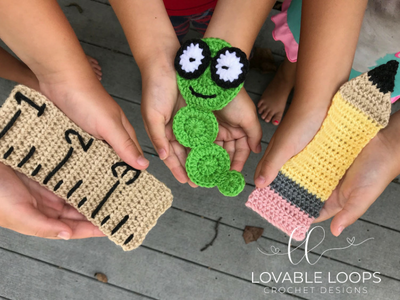 Crochet School Themed Bookmarks From Lovable Loops