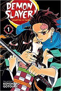 Demon Slayer volume 1 cover - Koyoharu Gotouge