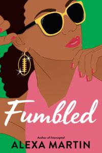Fumbled cover - woman in glasses with football shaped earring