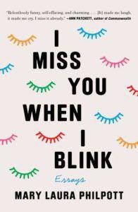 I Miss You When I Blink cover - colorful eyelashes on white background
