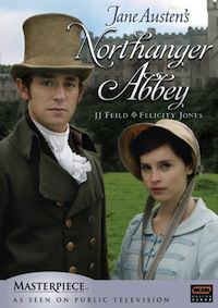 DVD cover of 2007 TV adaptation of Northanger Abbey