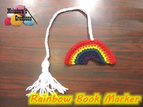 Rainbow Book Marker by Meladora's Creations