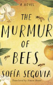 The Murmur of Bees cover - orange blossoms with bees