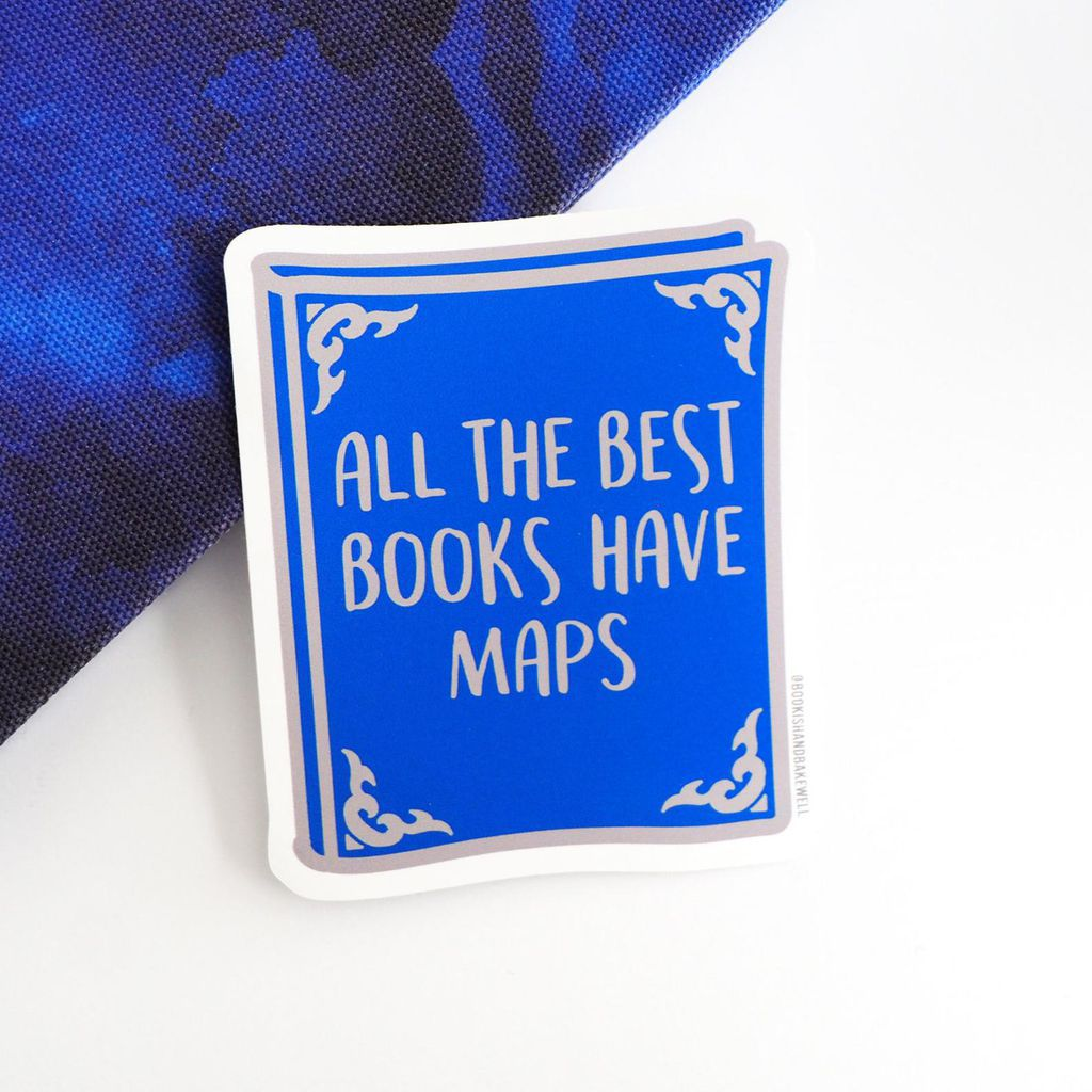 All the Best Books Have Maps sticker