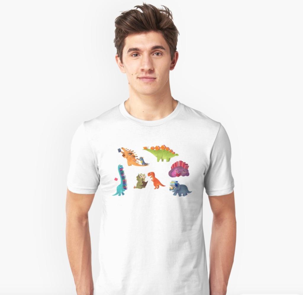 Book dinosaurs t-shirt