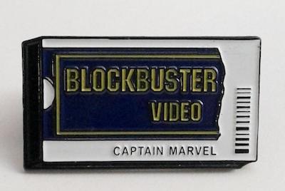 Blockbuster Video Captain Marvel enamel pin