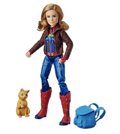 Carol Danvers with Goose the Cat action figure doll set