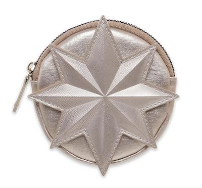 Gold Captain marvel symbol coin purse