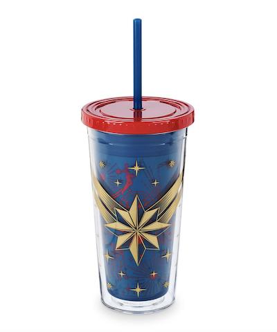 Captain Marvel drink tumbler