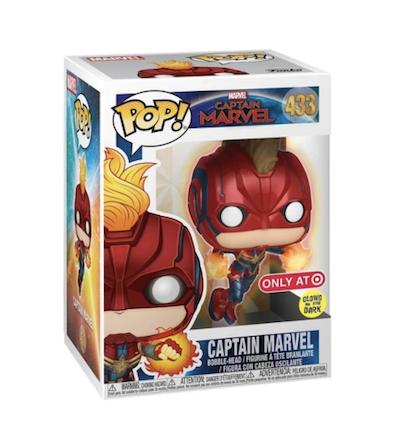 Captain Marvel glow in the dark funko