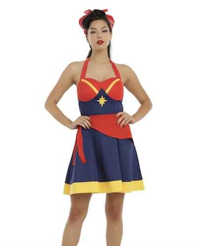 Halter Captain Marvel skater costume dress