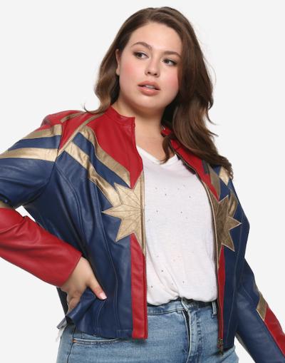 Her Universe Captain Marvel Star jacket