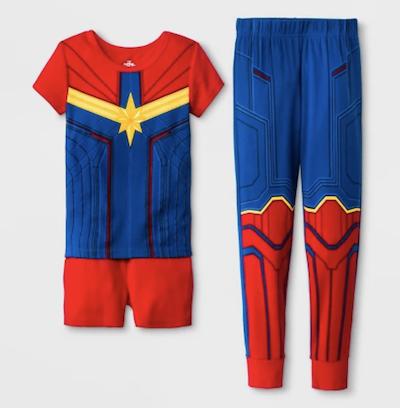 Captain Marvel costume pajama set for kids